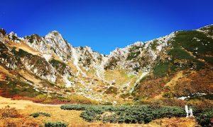秋の紅葉した千畳敷カール