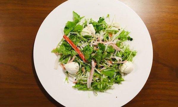 カニカマとパクチーのサラダ