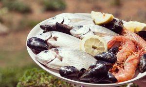 ブダペストの新鮮な魚屋さん