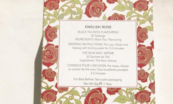 Whittard(ウィッタード)のイングリッシュローズ(English Rose)