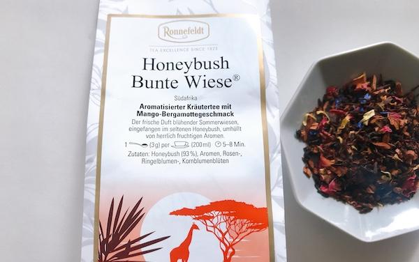 【レビュー】ロンネフェルト(Ronnefeldt)のハニーブッシュ・ブンテヴィーゼ(Honeybush Bunte Wiese)